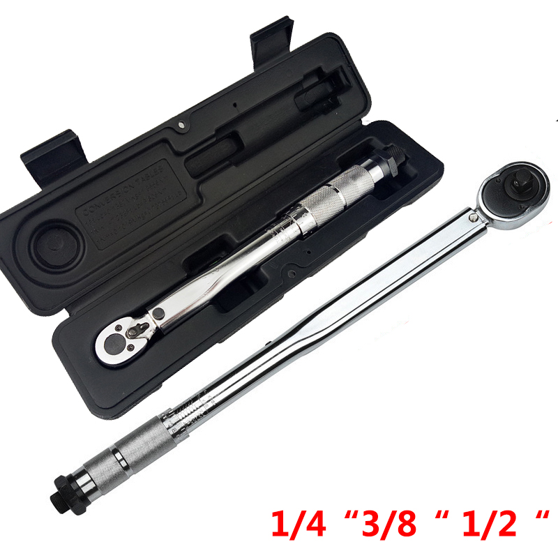 1/4 3/8 1/2 Square Drive Torque Wrench Drive Two Way To Accurately Mechanism Wrench Hand Tool Spanner Torque Meter Preset Ratche