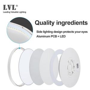 Image 4 - Lámpara de techo LED ultradelgada de montaje en superficie, moderna, 36W, 45W, 5000K, para cocina, dormitorio y baño