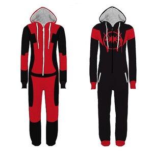 Image 1 - Erwachsene Deadpool Pijama Superhero Kostüm Mann Pyjamas Frauen Overalls Cosplay Halloween Kostüme für Frauen Weihnachten Party Outfit
