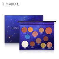 Focallure constellation paleta 12 cores sombra de olho maquiagem nude cores sombra de paleta glitter sombra