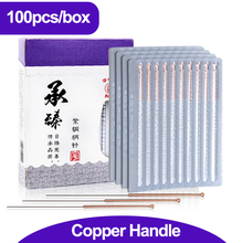 100pcs/box Acupuncture Needle Disposable Needle Acupuncture Beauty Massage Needle health care healthcare Hwato muscle massage needle stimulator cmns6 1 electronic acupuncture 6 output channel newest jia jian acupuncture needle stimulator
