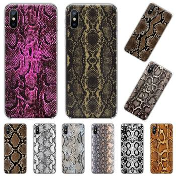 Leather Snake pattern horror Phone Case For iphone 12 5 5s 5c se 6 6s 7 8 plus x xs xr 11 pro max image