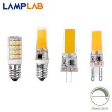 Led G4 COB SMD заменить галогенные осветительные лампы G9 E14 лампа Bombillas затемнения AC DC 12 В 220 В 3 Вт 6 Вт 9 Вт прожектор люстра