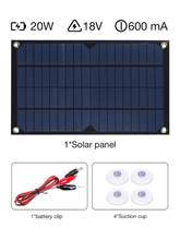 20W Single Crystal Charging Automotive Flexible Energy Saving Solar Panel Phone Battery Charger RV Boat Camping 5V USB 2.0 Port(China)
