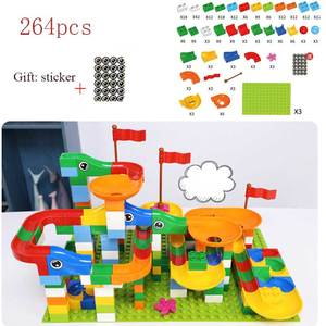 Image 5 - 88 352 PCS Blocks Marble Race Run Maze Ball Track Building Blocks Plastic Funnel Slide Assemble Bricks Compatible For kids Gift
