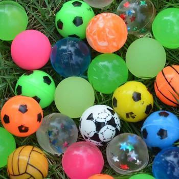 Mieszane Super piłeczka do odbijania solidna gumka Pet Dog Ball Lot zabawna zabawka piłki solidna gumka Jump Ball zabawa na świeżym powietrzu i sport prezent świąteczny dla dzieci tanie i dobre opinie CN (pochodzenie) rubber jump ball 3 lat Unisex Odbijając piłkę each ball is 27mm long can not eat Support Random Color