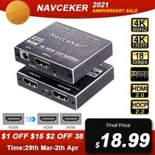 2020 ZY-HS20B UHD HDMI 2.0 Splitter 1x2 4K 60Hz HDMI 2.0 Splitter HDCP 2.2 Splitter HDMI 2.0 1 In 2 Out Per PS4 XBox Proiettore