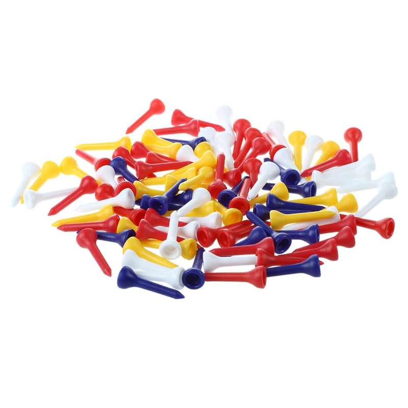 100pcs 35mm Color Mixed Plastic Golf Tees