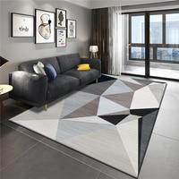 Scandinavian modern simple carpet geometry sofa coffee table side carpet bedroom carpet full of home