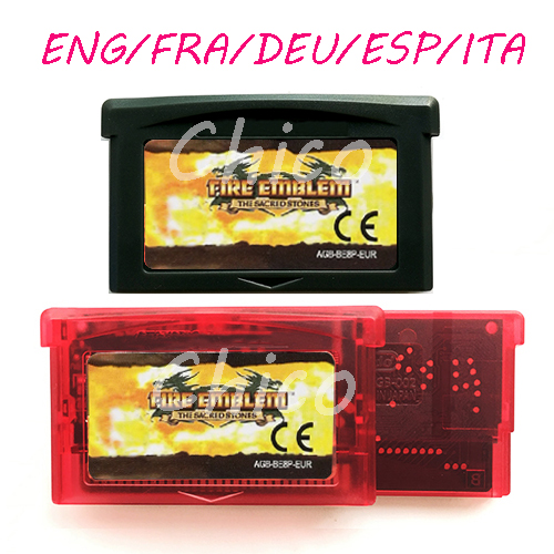 Fire Emblem ENG/FRA/DEU/ESP/ITA The Sacred Stones Video Game Memory Cartridge Card for 32 Bit Console Accessories EU image
