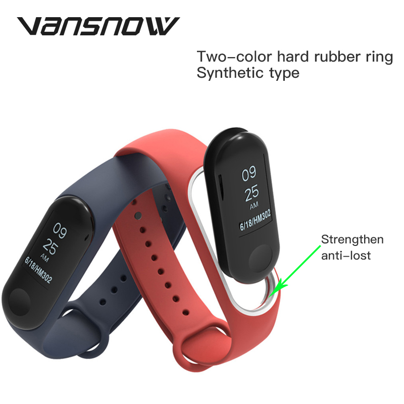 18 Colors Bracelet Strap for Xiaomi Mi Band 4 3 Strap Smart WatchBand Silicone Strap for Xiaomi Mi Band4 for XiaoMi Accessories in Smart Accessories from Consumer Electronics