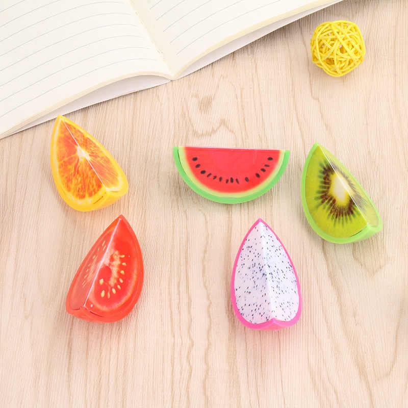 Ellen Brook 1 Pieces Novelty Fruit Plastic Pencil Sharpener Pencil Cutter Knife School Supplies Papelaria