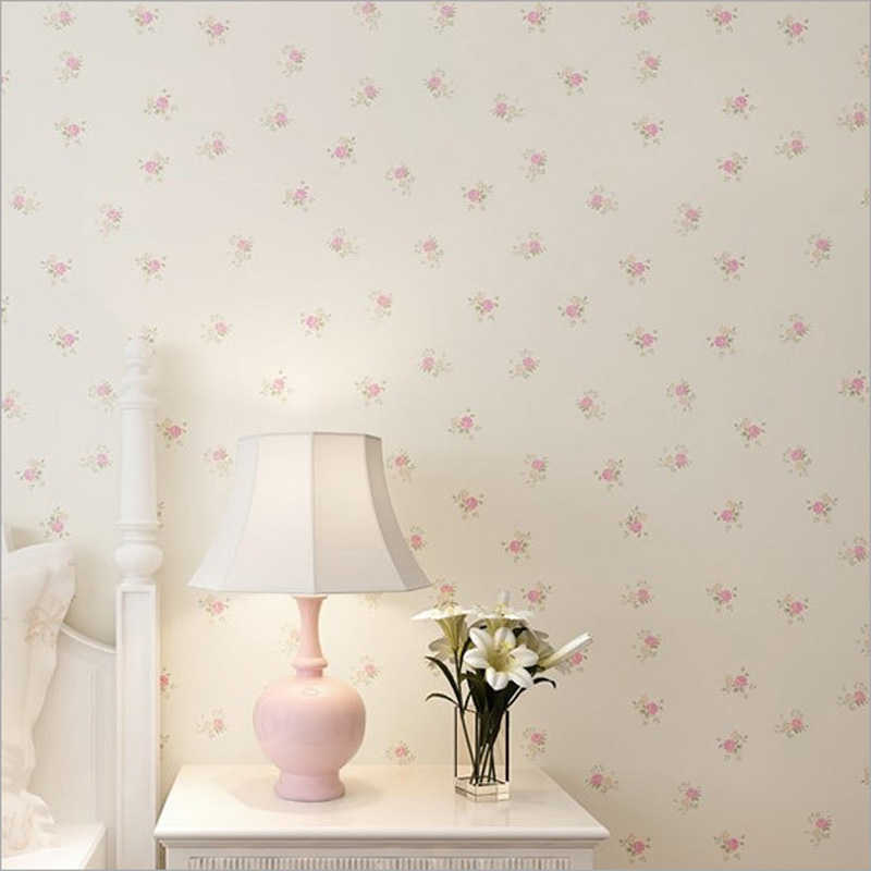Rural Simple Flower Nonwovens Thickened 3D Wallpaper Living Room TV Background Wallpaper Bedroom Warm Country Papel De Parede