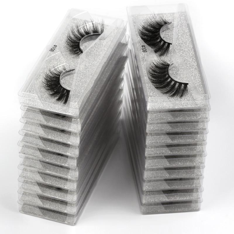New 10 pairs faux mink eyelashes bulk wholesale natural long false eyelash extension 3d lashes fluffy soft fake cilios makeup