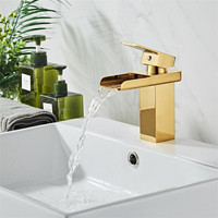 Rose Gold Basin Faucet Modern Bathroom Sink Mixer Tap Brass Wash basin Faucet Single Handle Single Hole Crane For Bathroom