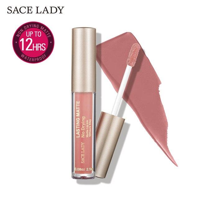 SACE LADY Matte Lipstick Makeup 19 Color Liquid Lipstick Red Nude Lip Tint Moisturizing Make Up Waterproof Long Lasting Cosmetic 5