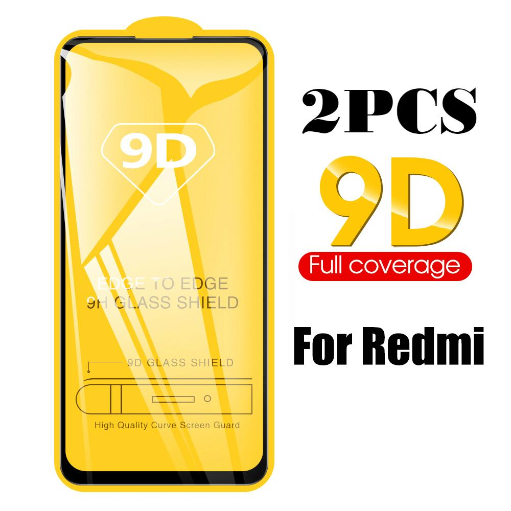 2PCS 9D Full Tempered Glass For Xiaomi Redmi 9 K20 K20 Pro Full Cover Glass For Redmi Note 9 Pro Max 9s 7 Pro 6 8 Pro Protector image