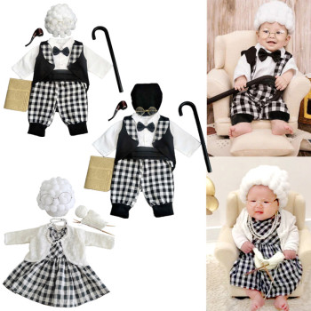 Infant Baby Boys Girls Photography Props Toddler Clothes Cosplay Grandma Costume Newborn Photo Shooting Outfits