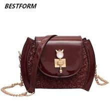 купить Patent Leather Bag For Women Tote Flap Womens Handbags And Purses Vintage Shoulder Bag Women Small Chains Crossbody Purse Clutch по цене 911.84 рублей