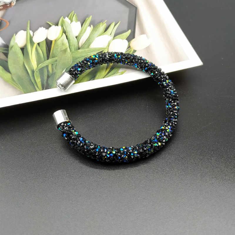 Cristal manguito pulseira nova moda aberto pulseiras feminino para as mulheres simples strass pulseira atacado dropshipping