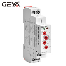 Free Shipping GEYA GRV8-01 Single Phase Voltage Relay Adjustable Over or Under Protection Monitor with LED display