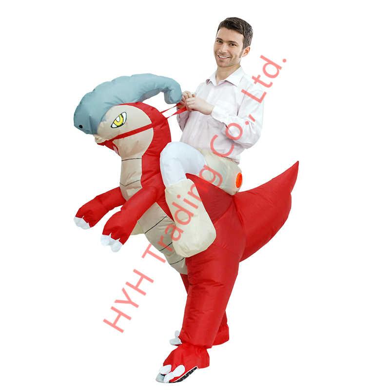 Người lớn Parasaurolophus Bơm Hơi Trang Phục Halloween Trang Phục Động Vật Hóa Khủng Long Trang Phục dành cho Nữ Carnival Đầm