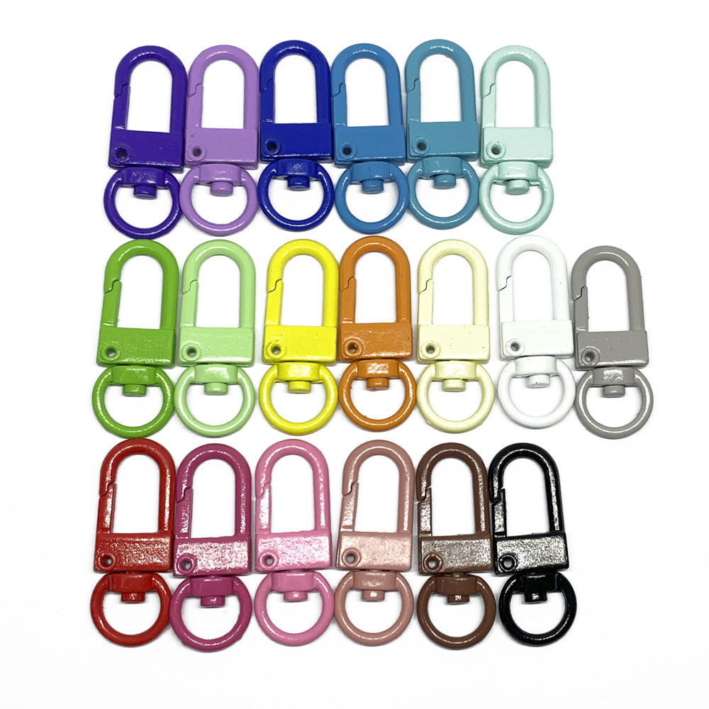 5PCS Key Chain Ring Metal Clips Keychain DIY Jewelry Accessories Base Findings
