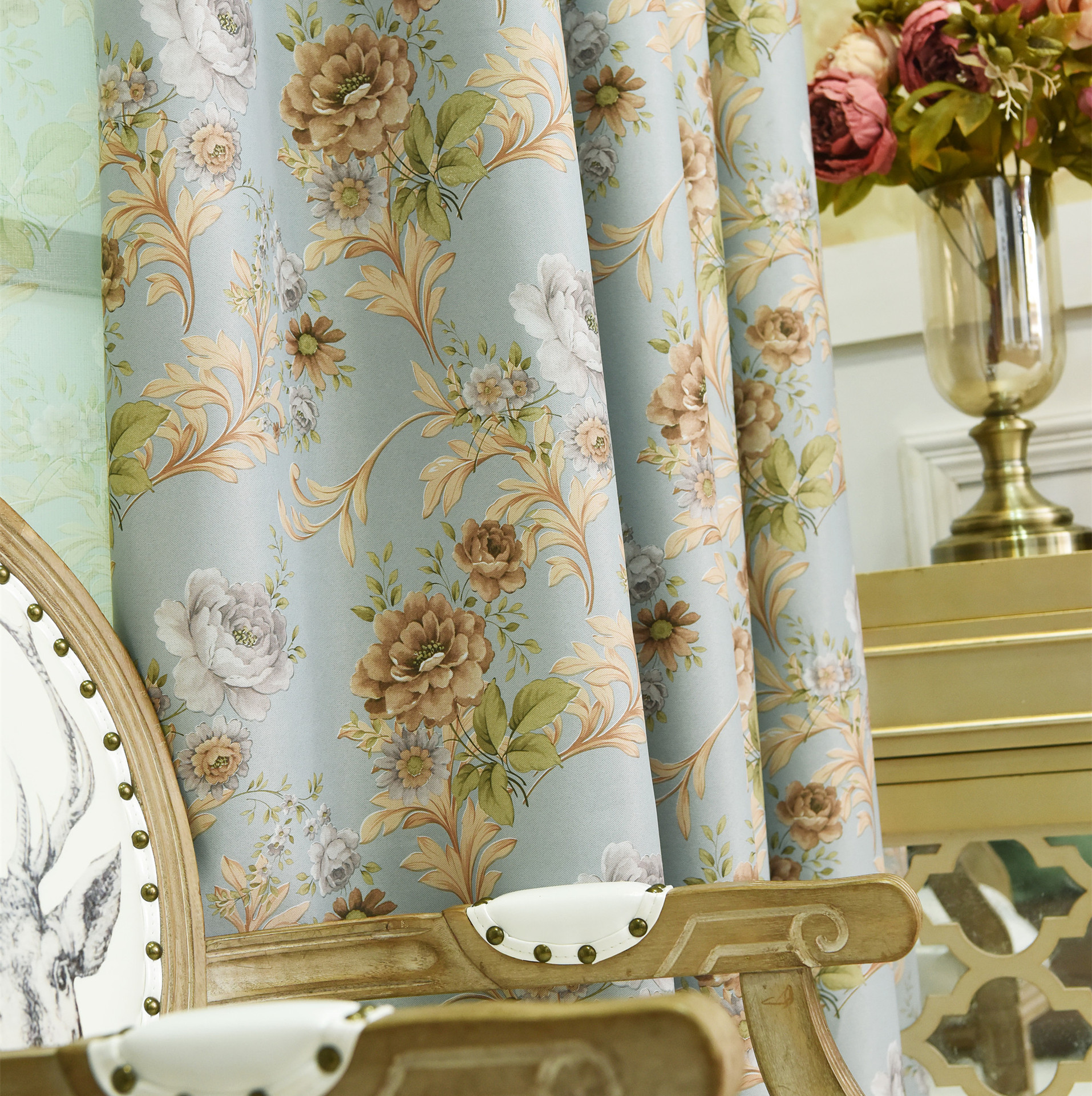 Shade Full Blackout Curtains For Living Room Bedroom Fabric