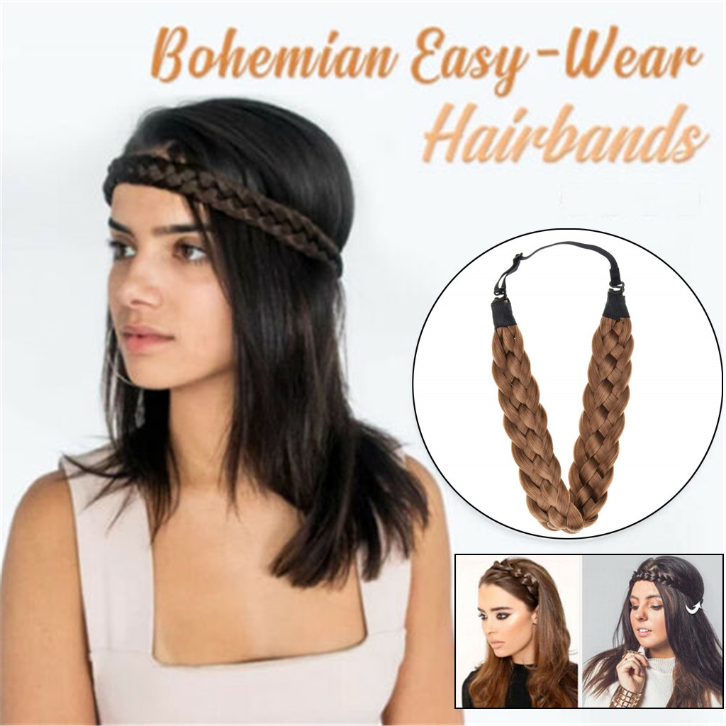 New Fashion Girl Braided Plait Plaited Wig Hair Band Headband Hair Accessories