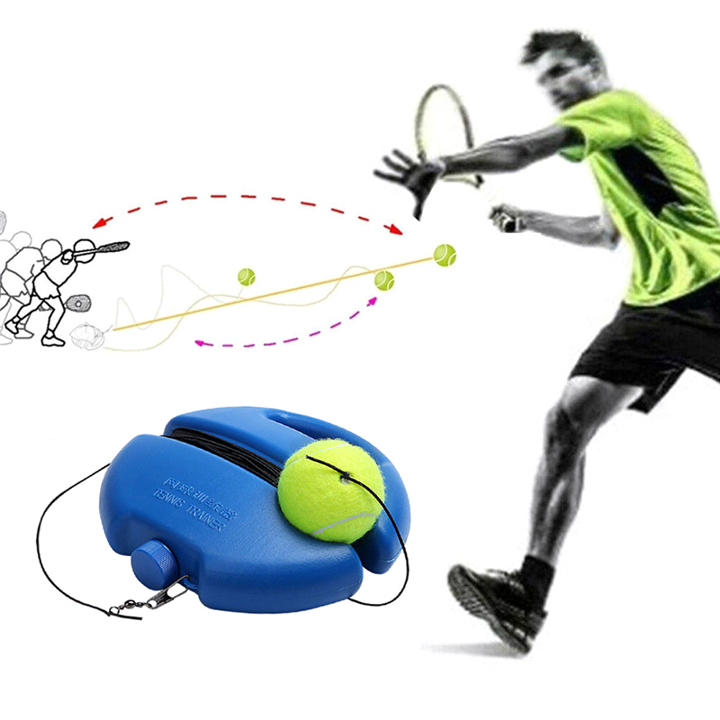 Multifunction Tennis Self-Study Trainer With Elastic Rope Rebound Ball Baseboard Sparring Device  #22