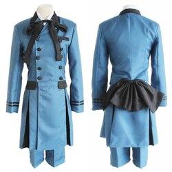 Anime preto mordomo kuroshitsuji ciel phantomhive cosplay traje kuroshitsuji sebasti aristocrata encarnação traje do dia das bruxas