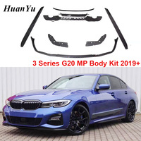 G20 MP Style Body Kit Diffuser Spoiler Front Lip Side Skirt for BMW 3 Series G21 M Sport Whole Bumper 320d 330i 340i 2019+