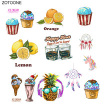 Zotoone Citroen Ananas Patches Dreamcatcher Stickers Ijzer Op Transfers Voor Kleding Diy Warmteoverdracht Accessoire Applicaties G(China)