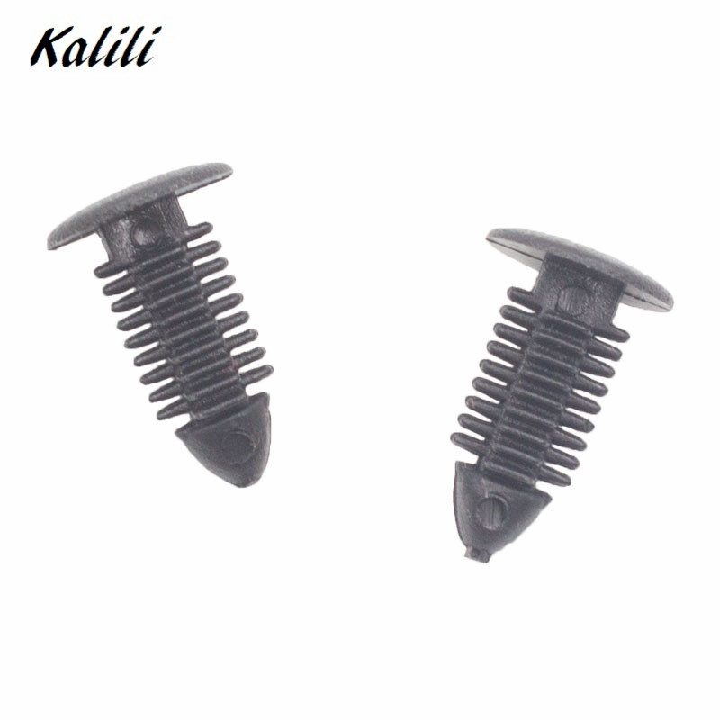 50 Pcs for Fukang black plastic fastener fixed rivets Car tailgate snaps retaining clip in Auto Fastener Clip from Automobiles Motorcycles