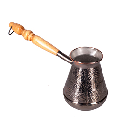 TURK COFFEE copper wooden carved handle 200 ml.