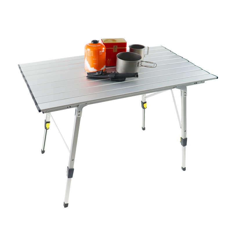 perfecta para exteriores f/ácil de llevar picnic playa cocina ultraligera de aluminio con bolsa de transporte Hurricom Mesa de camping port/átil pesca. senderismo