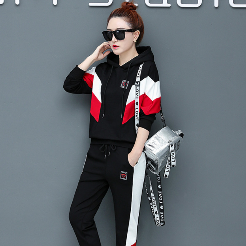 Milinsus Autumn Winter 2019 Sports Wear Suit Women Leisure Loose Tracksuit Two Piece Sets Top And Pants Winter Outfits Women
