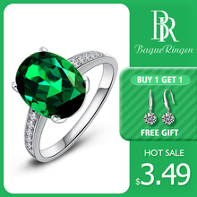 Bague Ringen Brand Anillos Fashion Jewelry Rings for Women Silver Green Zirconia Rhinestone Wedding Party Wholesale Gifts