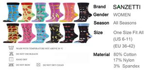 Image 5 - SANZETTI 12 Pair Womens Combed Cotton  Socks Colorful Happy Funny Fruit Lovely Novelty Wedding Bright Gifts Dress Popular Socks