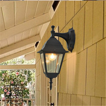 цена на Waterproof American LED Wall Porch Lights Creative Outdoor Garden Street Villa Lamp Aisle Balcony Corridor Vintage Garland Decor
