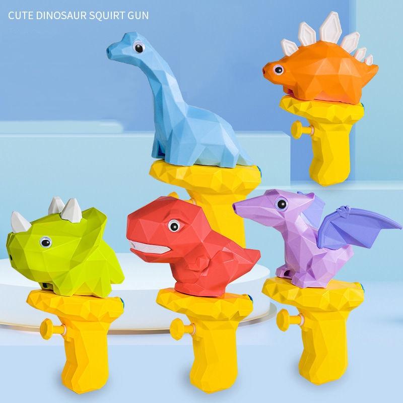Cartoon 3D Dinosaur Water Gun Outdoor Beach Toy For Boys Kids Plastic Spray Blaster Gun Pistol Baby Shower Toys Swimming Game