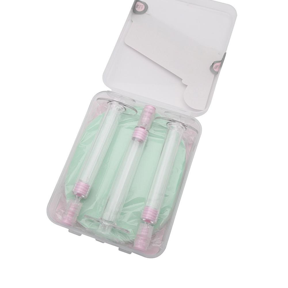 XY Fancy 3Pcs/box Portable Mini Syringe Sub Bottle + Puff Lotion Foundation Perfume Travel Container