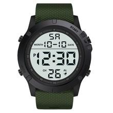 HONHX Men's digital watch waterproof TPU flexible strap elec