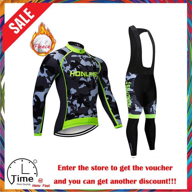 Velo de inverno ciclismo conjunto 2020 manga longa mountain bike roupas wear maillot ropa ciclismo secagem rápida corrida roupas