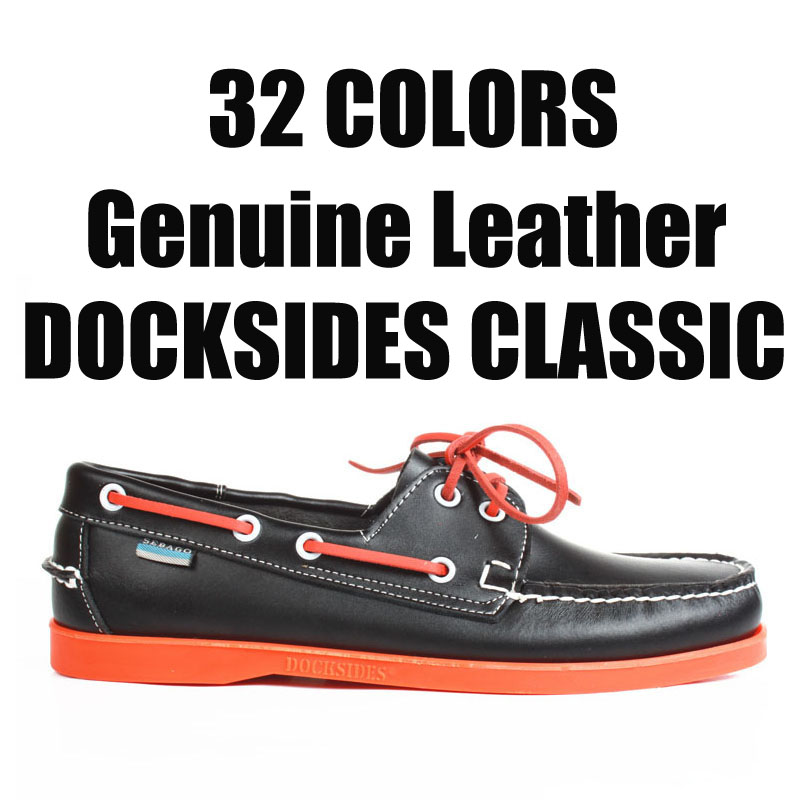 Men Women Genuine Leather Docksides Classic Boat Shoes,Homme Femme Yellow Plus Big Size 39-46 Brand Flats Loafers 2019A077