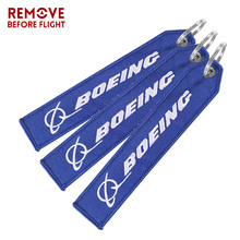 3PCS Aviation BOEING Keychain Bijoux Keychains Luggage Bag Tag Gift ATV Car Truck Key Fobs OEM Embroidery Ring llavero Gifts