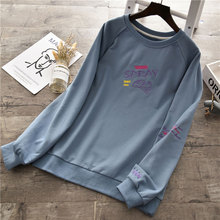 HOT New Sweatshirt Women Early Autumn 2019 Boy Friend Style Casual O-Neck Pullover Letter Print Loose