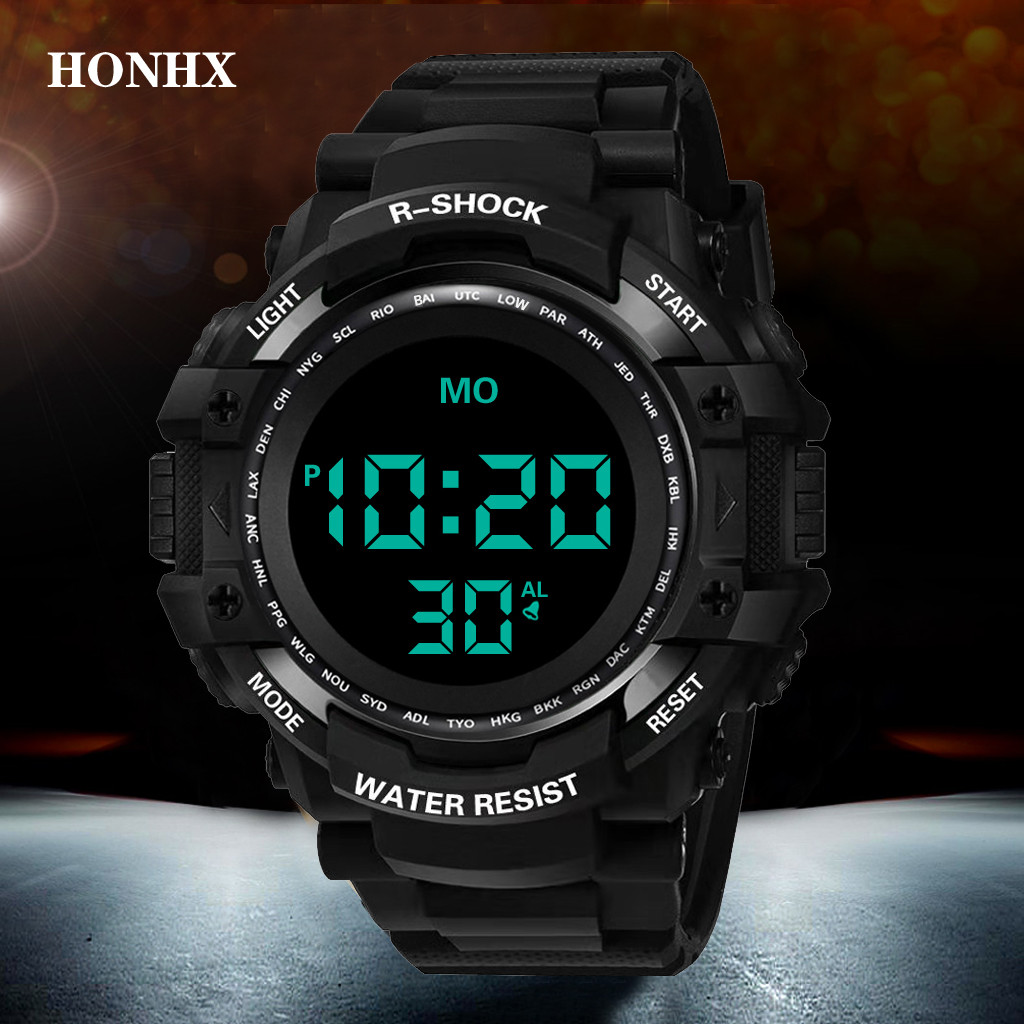 Man watch Reloj hombre HONHX Luxury Mens Digital LED Watch Date Sport Men Outdoor Electronic Watch Montre homme@@8