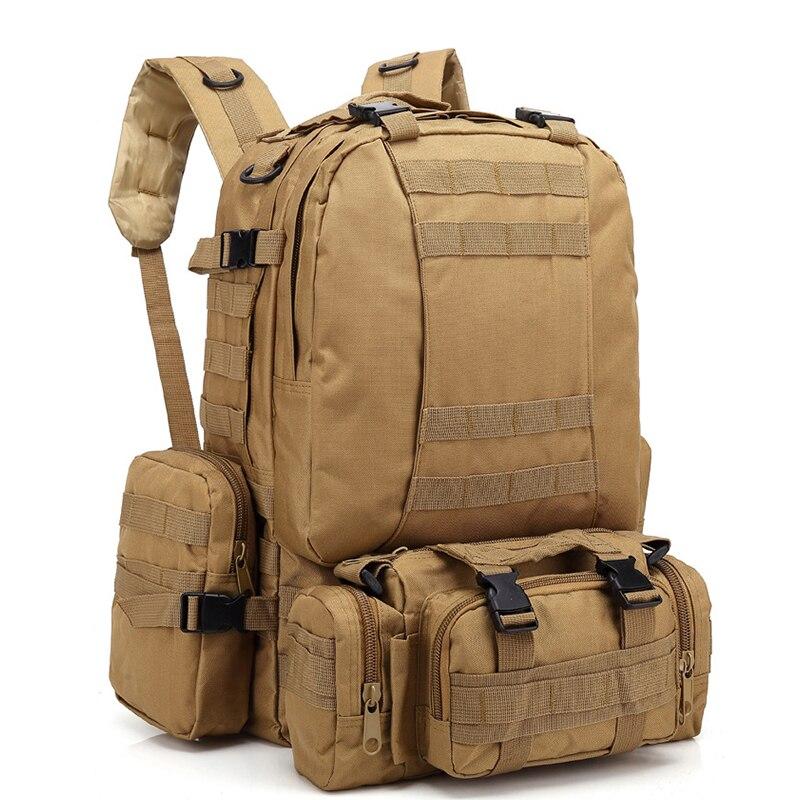Imperméable à l'eau 55L tactique Camouflage sprots sac à dos hommes voyage en plein air militaire mâle alpinisme randonnée escalade Camping sacs