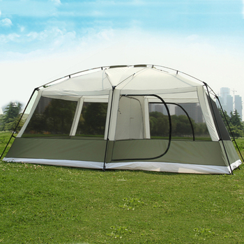 High quality 10 Persons double layer 2rooms 1hall large outdoor family party tents big space waterproof camping tent 2